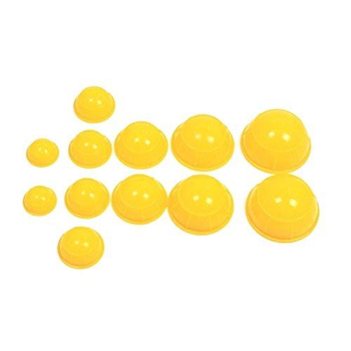 ROSENICE Massage Schröpfen 12pcs Silikon Medizinische Vakuum Massieren Werkzeuge Körper Gesicht Therapie Schröpfen Cups (gelb)