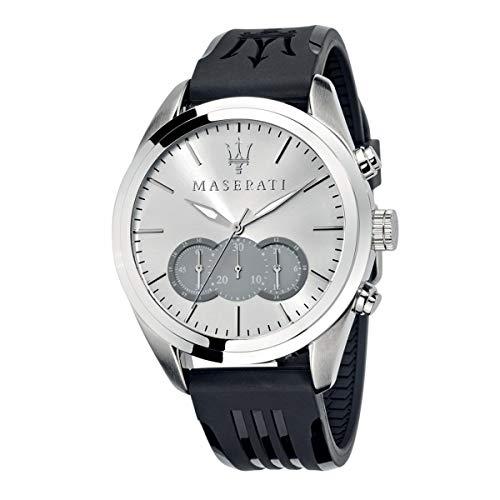 Orologio da uomo, Collezione TRAGUARDO, in acciaio, cuoio - R8871612012