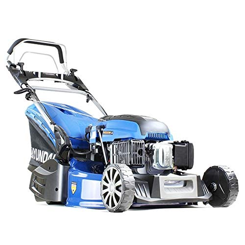 Hyundai HYM530SPER 21' 52.5cm 525mm Self Propelled Electric Start 196cc Petrol Roller Lawn Mower -...