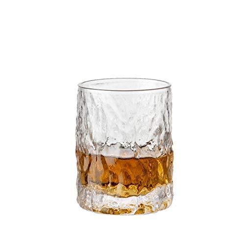 AIKENR - Vasos de cristal para whisky, doble de estilo antiguo, para servir whisky, cócteles o bebidas mixtas, whisky