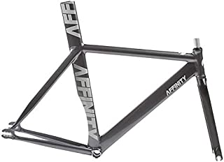 Affinity Kissena Aero Track Frameset with Brake Hole Dark Grey 44cm