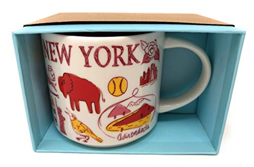Starbucks Been There Series New York Knickerbocker State Ceramic Mug, 14 Oz