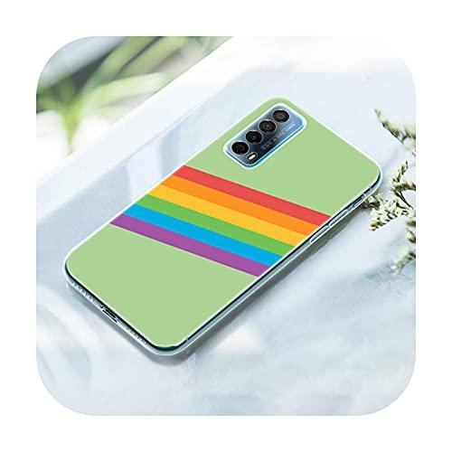 Rainbow Art - Funda de silicona para Huawei P50 Pro P40 Lite E P30 Pro P10 Plus P20 Lite P Smart Z 2021 Pro 2019 Soft Cover-005-P50 Pro