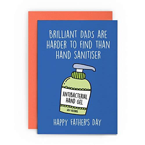 Tarjeta para el día del padre, divertida para papá, padrastro, padrastro, abuelo, papá, papá, papá, pop, saludo feliz para él, broma, lol humor brillante papá