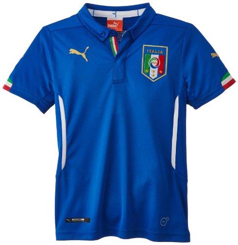 PUMA Kinder Trikot FIGC Italia Kids Home Shirt Replica Italien, Team Power Blue, 176