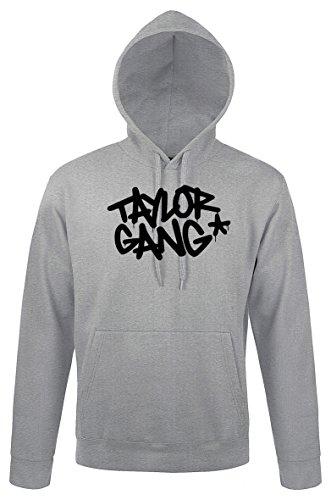 TRVPPY Herren Hoodie Kapuzenpullover Modell Taylor Gang Wiz Khalifa, Grau, M