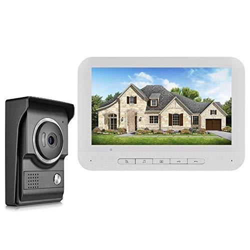 MISDD Telefonillo Portero 7 Pulgadas de Alta definición de vídeo en casa de intercomunicación Puerta de intercomunicación Puerta Chalet (Color : Doorbell)