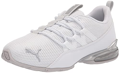 PUMA Women's Riaze Prowl Running Shoe, White Silver, 8