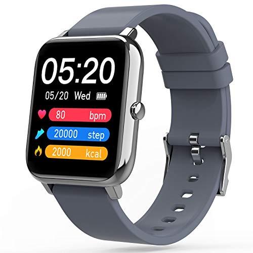 Judneer Smartwatch, Fitness Tracker mit Pulsuhr, 1.4 Zoll Voll Touchscreen Farbdisplay Fitness Smartwatches, IP67 Wasserdicht Sportuhr mit Schrittzähler Schlafmonitor, Smart Watch für Damen Herren