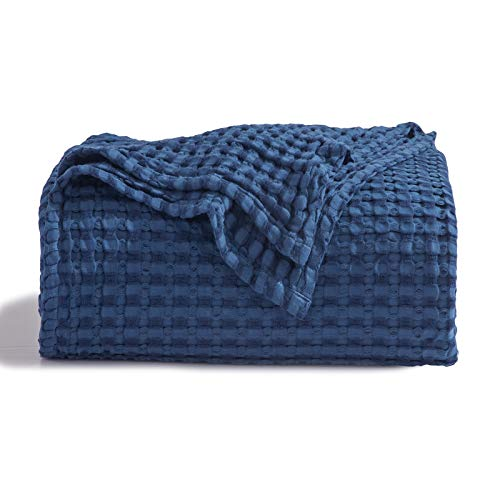 BedsureWaffleBambooBlanketCotton- Waffle Weave Blanket Queen Size, Soft Lightweight Bed...