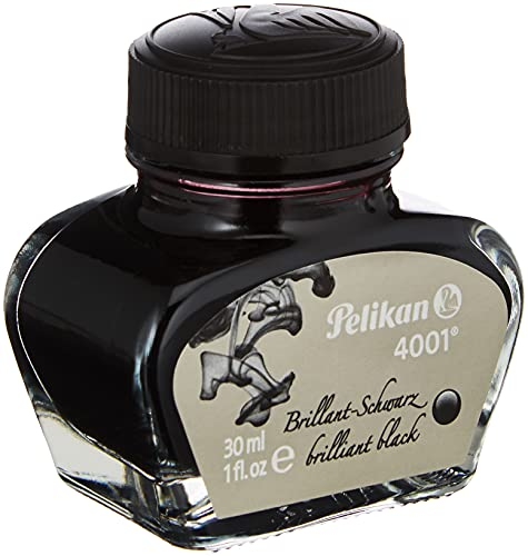 Pelikan 301051 - Tinta para pluma estilográfica 4001, frasco de vidrio de 30...