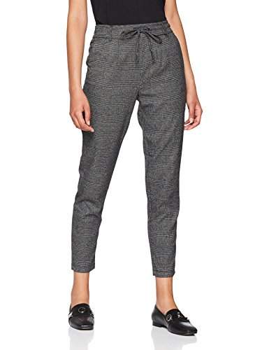 ONLY NOS Damen Hose Onlpoptrash Soft Check Pant Noos, Grau (Black Checks: Cloud Dancer), M /30
