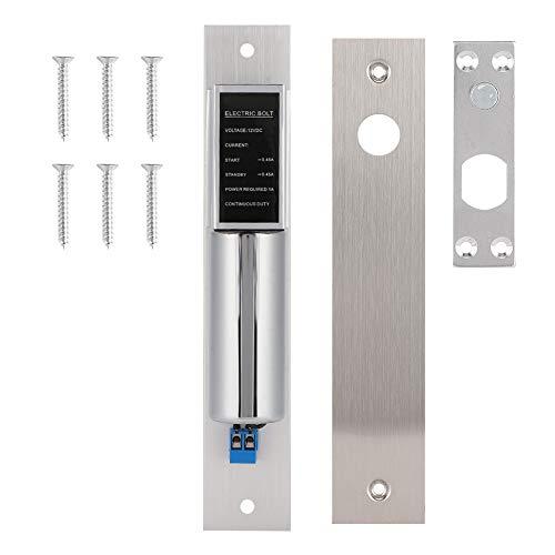 iFCOW Elektrisches Einsteckschloss, DC 12 V, 2-Draht, normale Temperatur, elektrisches Bolzenschloss, Sicherheitszugangskontrollsystem