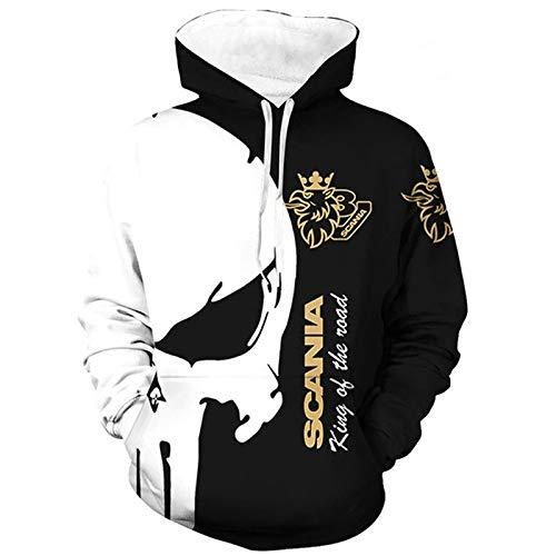 SPORTYAN 3D Voll Drucken Hoodies,T-Shirt,Jacke Scania Punisher Herren Leicht Sweatshirt Unisex Beiläufig Sportkleidung Lose / A1 / XXL