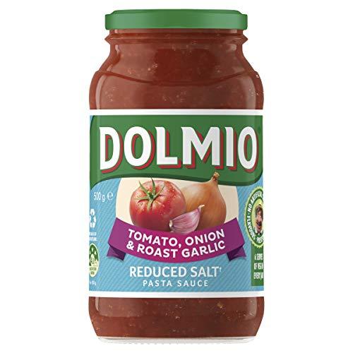 DOLMIO Extra Tomato Onion Garlic Pasta Sauce Salt Reduced, 500 g