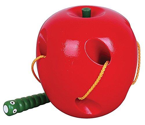 Viga Toys - 56276 - Jouet D'éveil - La Chenille Dans La Pomme - Avec Lacet