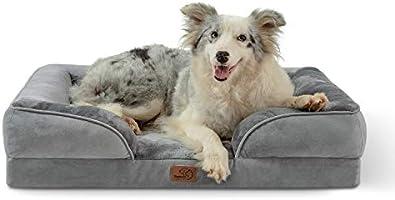BEDSURE Dog Bed Egg Flannel Grey