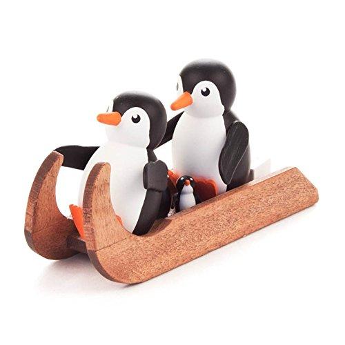 Miniatur-Pinguin Familienausflug - Dregeno Erzgebirgische Holzkunst - Artikel 159/055