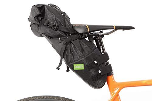 PODSACS Cycling Saddle Bag Waterproof Saddle Pack Black (Large)