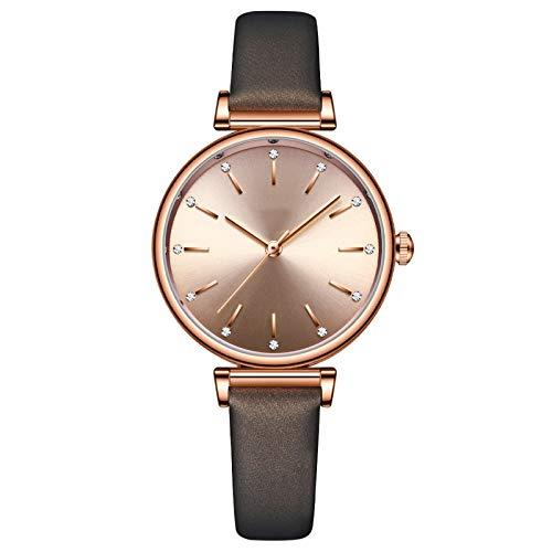 Reloj analógico de cuarzo for mujer, reloj de damas casuales con correa de cuero, reloj de exhibición analógico de cuarzo for mujer for negocios / graduación / regalos de cumpleaños ( Color : Color2 )