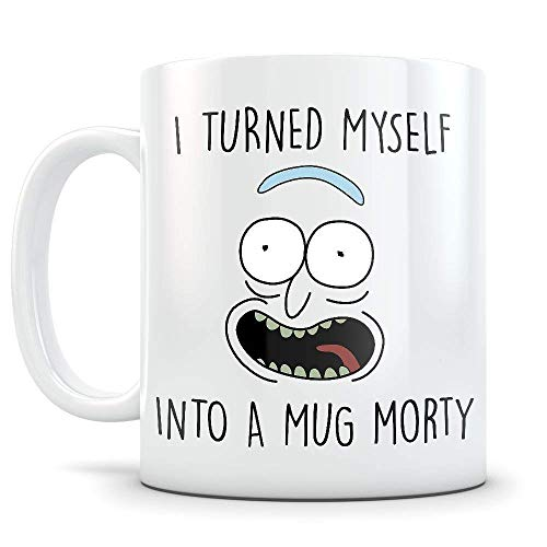 Taza de café, taza de Rick Morty - Parodia de Pickle Rick...