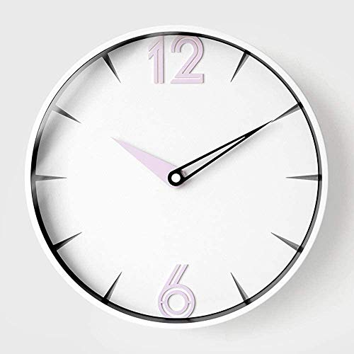 Warm Home - Reloj de pared silencioso para sala de estar, decoración del hogar, decoración de interiores, artículos ornamentales, manualidades, regalo moderno, 30 x 30 cm