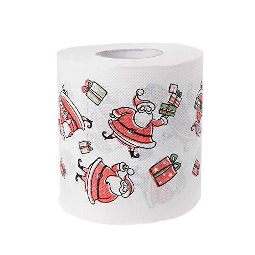 Papel higiénico navideño 3 Capas Imprimir Interesante Papel higiénico Mesa Toalla de Cocina Papel para el hogar...