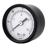 TOOGOO Ts-40 1/8 Pulgada Medidor de Presión para Combustible Aire Aceite Líquido Agua 0-20 Bar / 0-300 Psi Probador de Presión Medidor Herramientas de Prueba de Presión