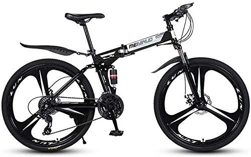 Bicicleta Plegable 21/24/27 Bicicleta de montaña de Velocidad 26 Pulgadas 3/6/10/30 / 40 Ruedas de radios MTB Dual Suspensión Bicicleta-3Knives_24 velocidades