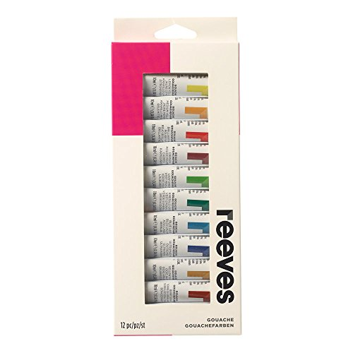 Reeves - Pintura gouache 10 ml, colores surtidos - Paquete d