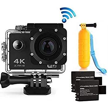 Navitech 8 in 1 Action Camera Accessory Combo Kit Compatible The Ankere Action Camera 4K 16MP Wi-Fi Sport Cam
