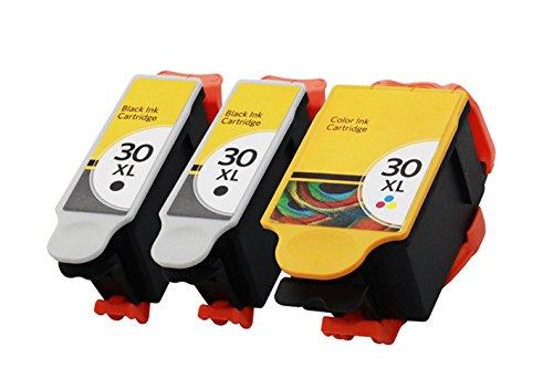 ESTON 3 Pack 30XL 30 XL Black & Color Ink Cartridges for Kodak Hero 4.2 Printer