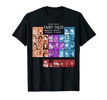 Disney Princess Periodic Table Fairy Tales Graphic T-Shirt T-Shirt