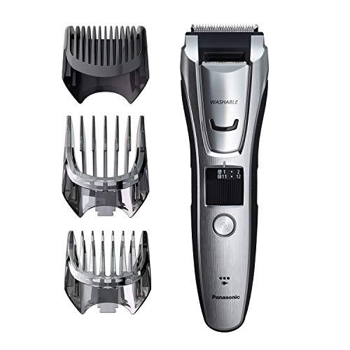 Aparador de pêlos e barba Panasonic ER-GB80-S Máquina de cortar cabelo, Para homens, Operação sem fio/com fio com 3 acessórios de pente e 39 Aparadores Ajustáveis, Lavável