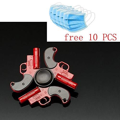 Anti-Ansia Mano Spinner Mitigatore di Sforzo Giocattolo Bambini Stress Relie Metallo Gyro per Adulti Fidget Spinner Punta delle Dita Gyro