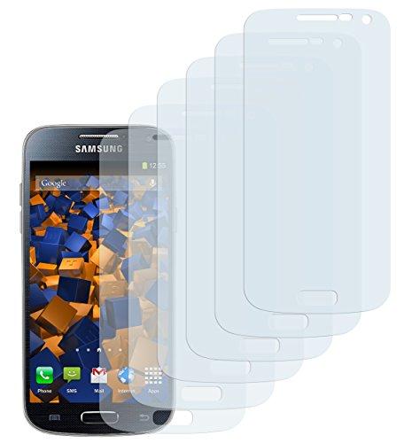 mumbi Schutzfolie kompatibel mit Samsung Galaxy S4 Mini Folie klar, Displayschutzfolie (6X)