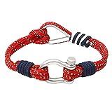 N/A Anniversaire Mode Escalade Sport Survie Corde Bracelet Hommes Femmes Camping Parachute Cordon en Acier Inoxydable D Boucle Bracelet