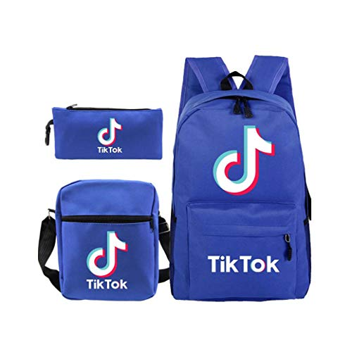 YONG 3 Pcs Backpack TIK Tok Mochilas Escolares Mochila Caja Almuerzo+E