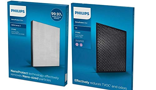Air Philips Filter Set AC1215 NanoProtect 1000 Series True HEPA FY1410 and CARBON FY1413 Set of Air Purifier