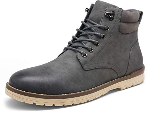 VOSTEY Men's Hiking Boots Waterproof Casual Chukka Boot for Men(BMY670B Grey 9)