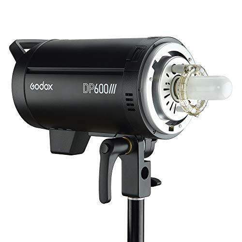 Godox DP600III Studio Flash GN80, Flash de Sistema inalámbrico Godox 2.4G Incorporado con Montaje Bowens, 600Ws Professional Studio Flash Strobe Monolight con lámpara de Modelado de 150W