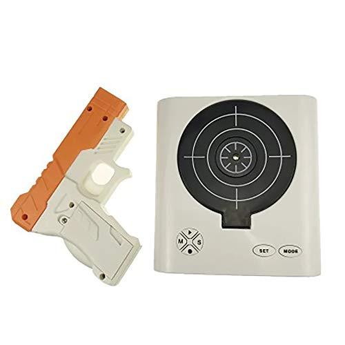 Wecker Schießen Infrared Toy Gun Digital Alarm Clock Wecker ohne Ticken Kinder & Erwachsene Gadgets Gun Wecker Kreativ Geschenk für Jungen Creative Alarm Clock mit Infrarot Laser