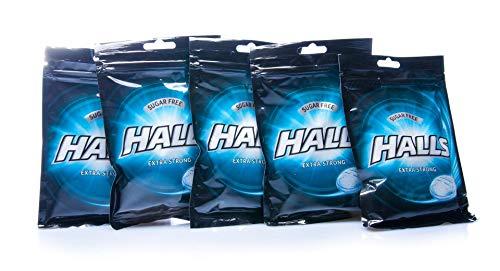 10er SET Halls Bonbons Extra Strong zuckerfrei 65 g / Frischebonbon Eukalyptus-Menthol