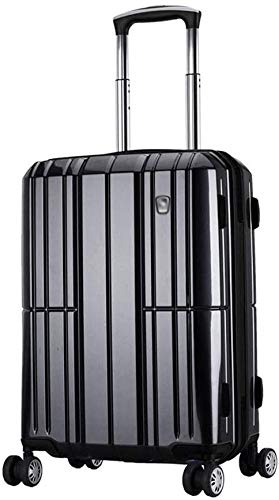 HCCHZR Expandable with Double Spinner Wheels, Carry-On 20-Inch, Luggage Trolley Hard Case Suitcase with Wheels Luggage Sets Trolley Case Business Travel Passcode Box Large Capacity Luggage