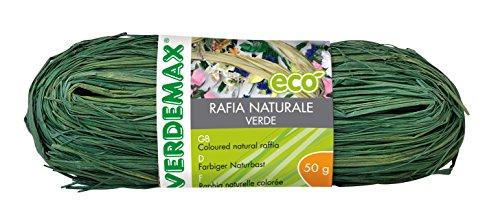 VERDEMAX 4513Coil Rafia Naturale 50g, Colore: Verde