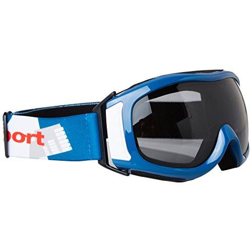 Ultrasport Gafas de Esquí y Snowboard con Doble Lente, Unisex Adulto, Azul/Blanco/Gris, Talla Única
