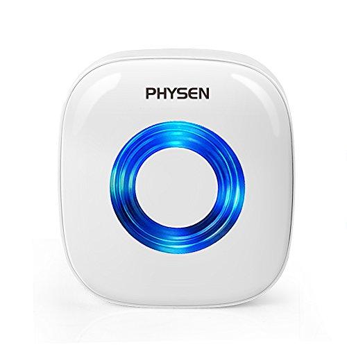 呼び出しチャイム チャイム PHYSEN 呼び出しチャイムセット 300Mの範囲 呼出音楽52メロディー選択可 ドアベル インターホン 呼び鈴玄関 (受信機2個 押しボタン防水 防塵送信機2個)
