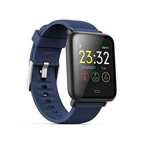 ZEIYUQI Smart Watch,Blood Pressure Heart Rate Sleep Monitor Bracelet IP67 Waterproof Sport Fitness Trakcer Watch Men Women Smartwatch,Blue