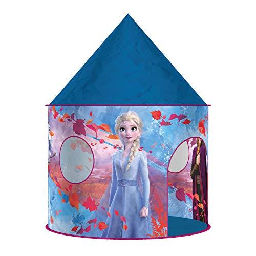 John 75118A Disney My Starlight Palace Spielzelt Die Eiskönigin Frozen 2 mit drehendem Disco Licht, blau