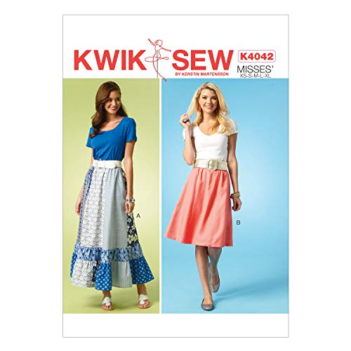 KWIK-SEW PATTERNS englisches Schnittmuster KwikSew 4042 Bahnenrock XS-XL
